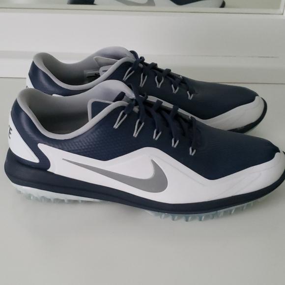 Necesario Hormiga Haiku  Nike Shoes | Nike Lunarlon Golf Shoes Blue White Spikeless | Poshmark